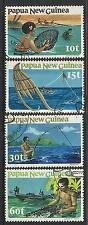 PAPUA NEW GUINEA 1981 FISHING 4v Used.
