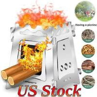 Potable Backpacking Camping Stove Wood Burning Stoves for Camp Hiking Picnic BBQ