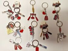 I LOVE LONDON 12 KEY-RINGS UNION JACK ENGLAND SOUVENIRS KEYCHAIN  KEY RINGS