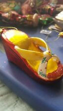 Brighten the Season Wedge Shoe Ornament One Size Red/yellow