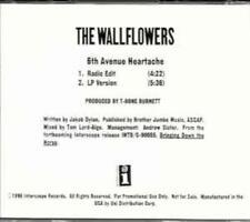 The Wallflowers: 6th Avenue Heartache PROMO MUSIC AUDIO CD Radio Edit LP 2 track
