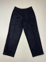 HUGO BOSS Trousers - W32 L30 - Navy - Cashmere - Great Condition - Men's