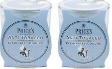 2x Price's Anti-Tobacco Candle in Jar - Eliminates Tobacco and Smoking Odour