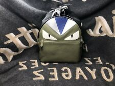 100% NIB Authentic Brand New Fendi Monster Backpack with Fur Crest, Green Color
