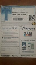 pass Euro Disney Disneyland billet en ligne 2019 format A4 TTB