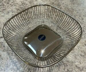 Vintage Alessi Square wire basket / tray Made in Italy