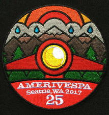 25th Anniversary Amerivespa 2017 Scooter Rally patch Seattle Wa. VCOA Vespa  NOS