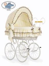 My Sweet Baby Stubenwagen Retro Nostalgiestubenwagen XXXL gelb WEISS sofort Lief