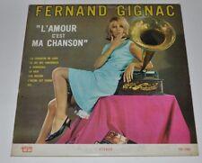 FERNAND GIGNAC : L'Amour c'est ma chanson LP Record Smoking Woman Cover