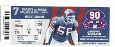 2014 NEW YORK GIANTS VS SAN FRANCISCO 49ERS TICKET STUB 11/16 LAWRENCE TAYLOR