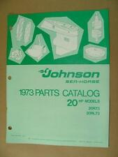 1973 JOHNSON 20HP MODELS 20R73 20RL73 OUTBOARD MOTOR ENGINE PARTS CATALOG 386133