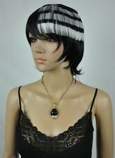 SOUL EATER cosplay Wig Soul Eater DEATH THE KID Black and White Layered colors