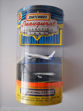 Matchbox INAUGURAL COLLECTION BOEING 777 FIRST SHOT LIMITED EDITION W/BOX 1997