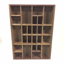 "Wooden Shadow Box Miniature Display Curio Cabinet Shelf 16.5"" x 12"""