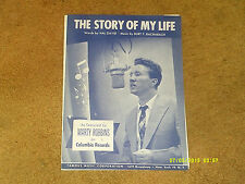 Marty Robbins sheet music The Story of My Life 1957 5 pages (NM shape)