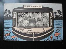 Vtg Glass Bottom Boat Cruise Photo In SILVER SPRINGS FLA Die Cut Frame/Folder