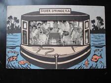 Vtg Glass Bottom Boat Cruise Photo In SILVER SPRINGS FLA Die Cut Frame/Folder