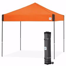 E-Z UP Pyramid 10 x 10ft Canopy Instant Shelter Easy Up - Steel Orange