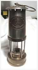 Vintage: E. Thomas & Williams Cambrian Brass Miner's Oil Lamp From Wales, UK