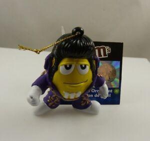 Elvis  M & M  holiday ornament Christmas ornament Kurt S. Adler MM yellow purple