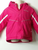 GIRLS COLUMBIA AGE 3 YEARS PINK HOODED PADDED QUILTED COAT JACKET KIDS