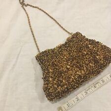 Vintage Kate Landry Beaded and Rhinestone Purse Handbag w Strap