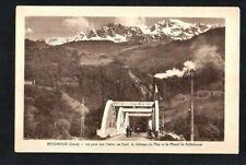 CPA BRIGNOUD - Le pont sur l'Isère, le château du Mas et le massif de Belledonne