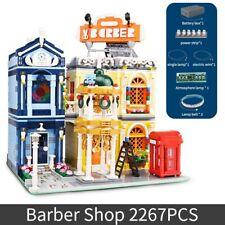 2267pcs The Barber Shop w/ LED Streetview Creator MOC Building Blocks Brick Set