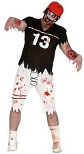 Mens Zombie American Quarterback Halloween Scary Fancy Dress Costume Outfit