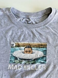 Mac Miller Gray Swimming T-Shirt Men's Size Medium ~ Self Care ~ R.I.P Mac