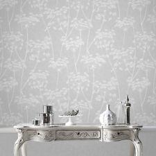 Superfresco Easy Paste the wall Aura Sprig Motif Grey Wallpaper (Was £16)
