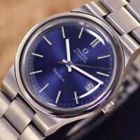 VINTAGE MEN'S OMEGA GENEVE AUTOMATIC CAL.1012 DATE ANALOG DRESS WATCH ST. STEEL