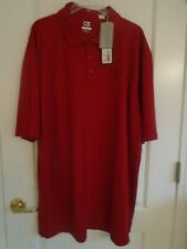 Cutter & Buck sz LT red Trailblazer logo short sleeve polo shirt NWT