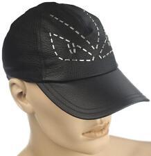 476c9d3a NEW FENDI BLACK LAMBSKIN LEATHER ANIMOTICON CREATURES BALL HAT CAP M/MEDIUM  UNIS