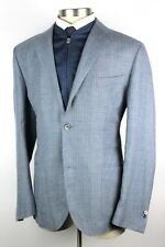 New $1695 CORNELIANI ID Lt. Blue Wool Linen Sport Coat Zip Out Vest 48R Fits 46R