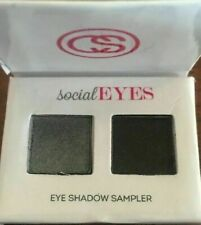 Coastal Scents Style Social Eyes Smoky Duo Shadow Palette NEW Travel Size Black