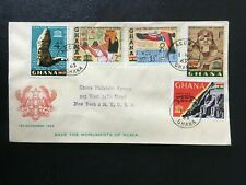 GHANA 1963 NUBIA COVER AIR MAIL TO USA