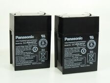 2 x Panasonic Bleiakku LC-R064R5P 6V 4,5Ah   Faston 4,8 mm **Neu mit Rechnung**
