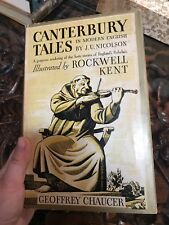 CANTERBURY TALES IN MODERN ENGLISH 1934 Illustrated by ROCKWELL KENT