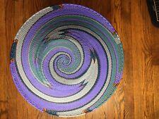 Handmade Telephone Wire Basket Zig Zag Swirl Pattern