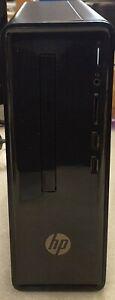 HP Slimline Desktop 290-A0046 1TB HDD 8GB RAM Black Win 10
