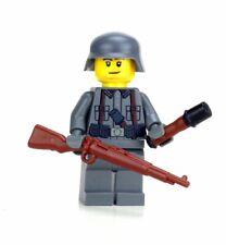 Axis Enemy WW2 Rifleman Soldier WW2 minifigure made w/ real LEGO® minifig
