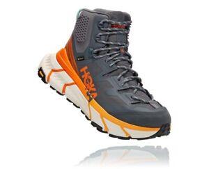 Hoka One One Tennine Hike GTX Gore-Tex Men Boots 1113510 Grey / Orange Size 12