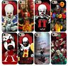 Pennywise Clown Horror IT Case Cover Apple iPhone XS Max XR X 8 7 6 Plus 5