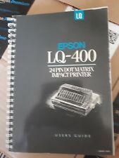 EPSON LQ-400 DOT MATRIX PRINTER MANUAL