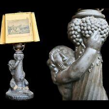 Art Deco Figurenlampe Faun um 1920 Skulptur Tischlampe Lampe Satyr antik Figur