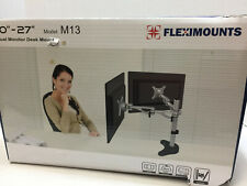 FLEXIMOUNTS M13 DUAL ARM MONITOR DESK MOUNT LCD ARM (10-27, 3.3-17.6 LBS)