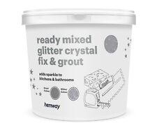 Hemway Fertig Gemischt (Silber) Glitter Fix & (Grau) Fuge 2.5L/4.5KG Badezimmer
