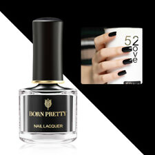 Gloss Pure Black Nail Polish Basic Base Nail Art Varnish Polish BORN PRETTY 6ml