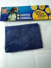Nuevo Pequeño perro cachorro/azul capa de lluvia.
